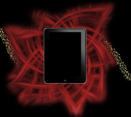 Tablet pc on abstract background Stock Photo - 9235274