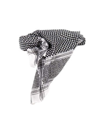 Black and white arabic kerchief isolated on white