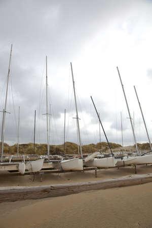 Several katamaran boats on beach Stock Photo - 10775329