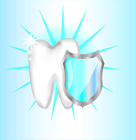 Teeth protection with shield Vector