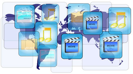 Online file sharing with world map