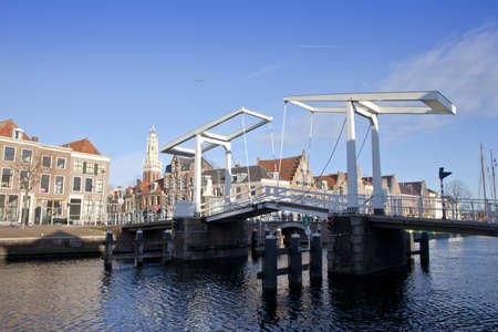 Historic bridge at canal in Haarlem, The Netherlands Stock Photo - 12890905