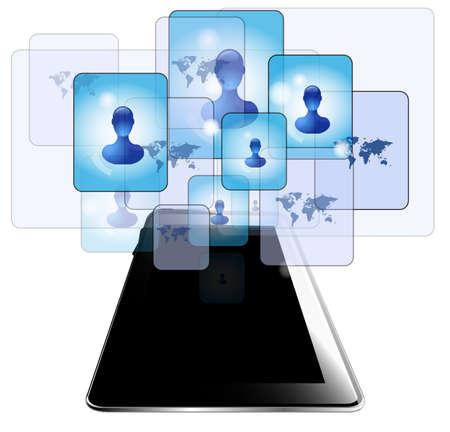 gente comunicandose: Tablet PC con la gente comunicarse