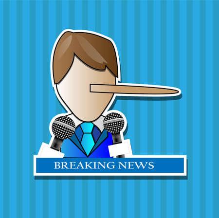 rueda de prensa: Rueda de prensa de persona que hace una mentira con las �ltimas noticias