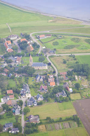 Little village from above in the Netherlands Stock Photo - 15448124