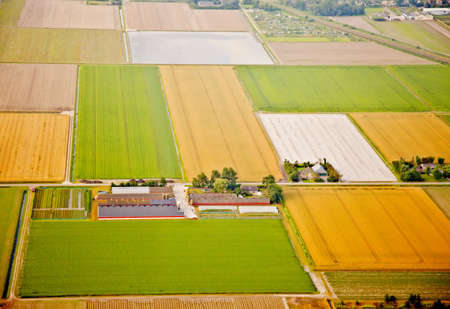 Farm landscape from above, The Netherlands photo