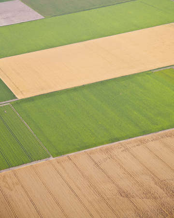 Dutch farm landscape from above, The Netherlands