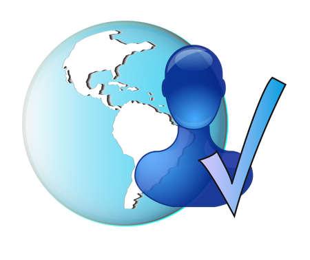Illustration of finding friend online