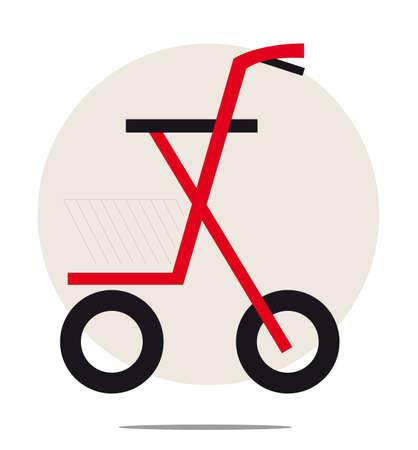 Illustratie van de rollator op een witte achtergrond Stock Illustratie