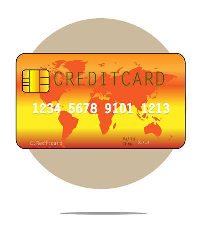 creditcard: Illustration of a creditcard with circle background Illustration