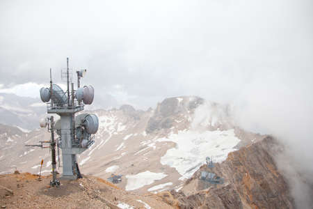 wheater: View from top of Zugspitze Austria