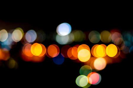 Urban city night light bokeh