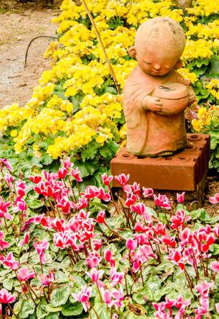 statuary garden: Monk statue in the garden.