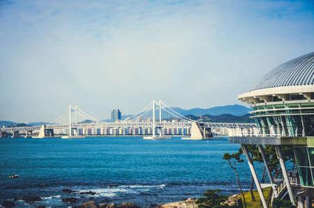 Kwangan Bridge. Grand bridge in South Korea, Busan photo