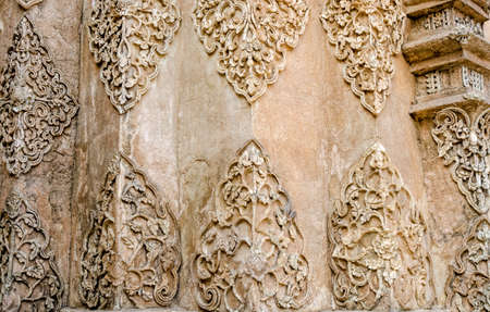 Texture of Stucco white color tree at Wat Prathat Lampang Luang Temple Lampang Thailand photo