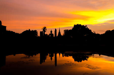 sharpen: Sukhothai historical park at Sukhothai province in Thailand improve sharpen