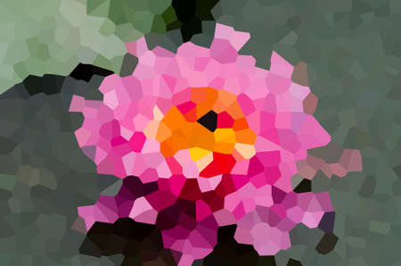 crystalline: Flower abstract background texture with filter crystalline Stock Photo
