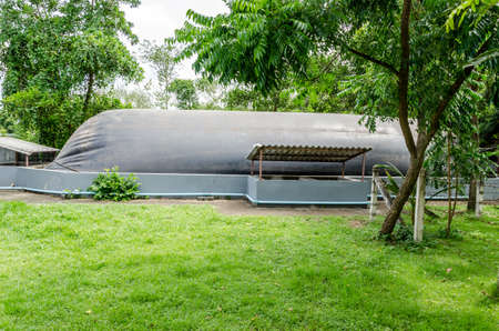 anaerobic: Small biogas plant in Thailand Stock Photo