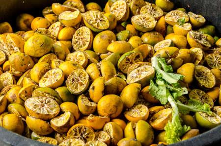 desechos organicos: Los residuos org�nicos del mercado de productos frescos Foto de archivo