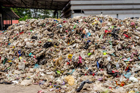 strips away: NAKHONRATCHASIMA, THAILAND - AUGUST 19: Dry municipal waste for Waste to energy procress on AUGUST 19, 2015 in NAKHONRATCHASIMA PROVINCE THAILAND