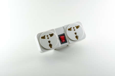 universal: Universal plug on white background