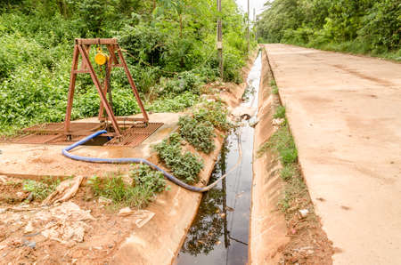 waste water: waste water from dump site