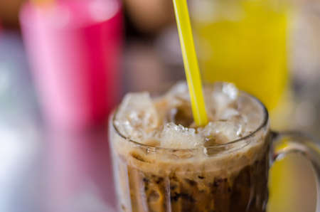 refreshment: Ice coffee, refreshment cold drink