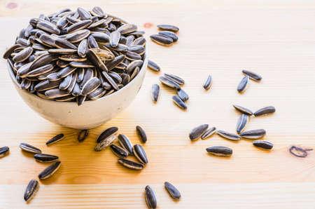 girasol: Semillas de girasol merienda para romper el tiempo: Fondo y textura Foto de archivo