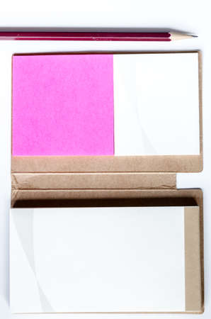 business it: Book note and post it for business supply Stock Photo