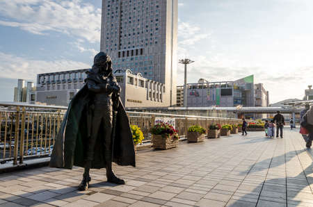 kita: KITAKYUSHU, JAPAN - NOVEMBER 13: Sculptures from manga in Kitakyushu, Japan on November 13, 2015. Leiji Matsumotos manga work turned into sculptures at the Kokura Station