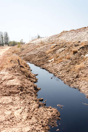 repulsive: Wastewater from illegal dump site