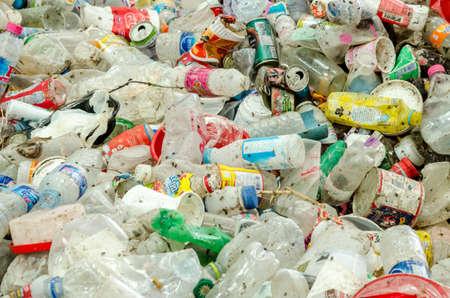 alumina: SAKAEO PROVINCE, THAILAND-JULY 11: Plastic and aluminium waste disposal open dump process.  Dump site at Sakaeo Province on JULY 11 , 2016 in SAKAEOI PROVINCE THAILAND