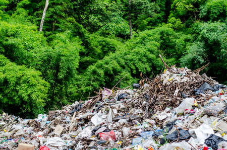 TAK PROVINCE, THAILAND-AUGUST 9: Waste from industrial.  Dump site at Tak Province on AUGUST 9 , 2016 in TAK PROVINCE THAILAND