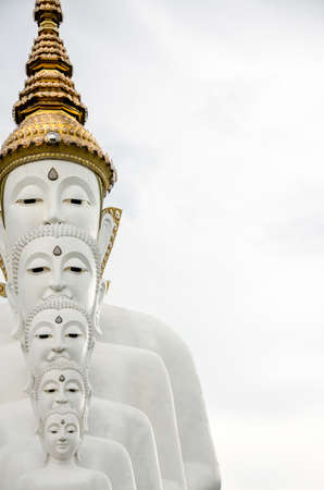 Five Buddha statue in Wat Phra That Pha Kaew, Petchabun province, Thailand
