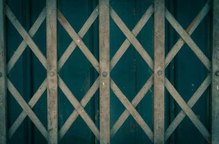 Old steel door, vintage and grunge picture