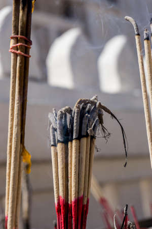 Incense stick in the old tample