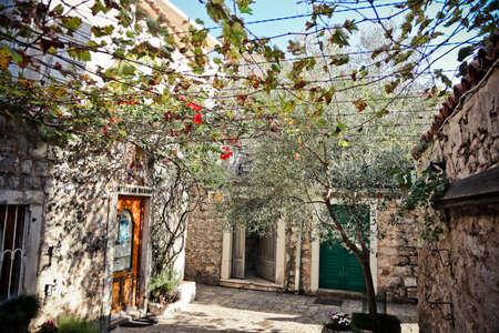 budva old town street in montenegro Banco de Imagens