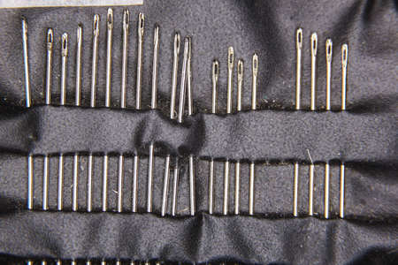 Set of threads to the machine close up