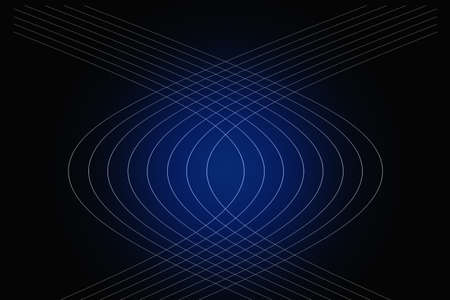 intertwined bundles of hyperbolic lines on black background with colorful gradient