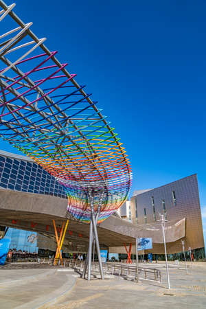 congress center: Trade Fairs and Congress Center in Malaga, Spain  MALAGA, 2017 - The building has a total area of 60,000 m2, of which 17,000 m2 are dedicated to national and international exhibitions and trade fairs.