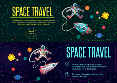 sun sky: Illustration in style flat about outer space.