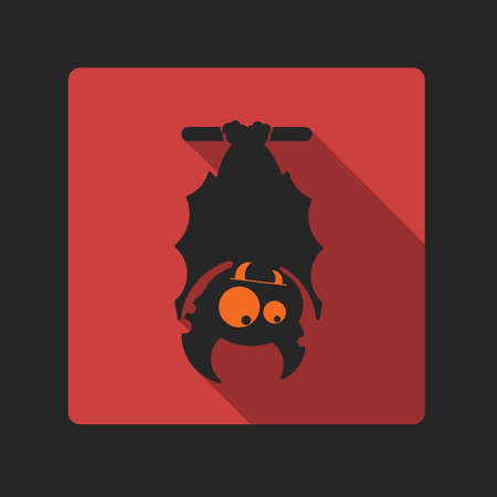 Vampire on the full moon for Halloween. Vector icon in style flat