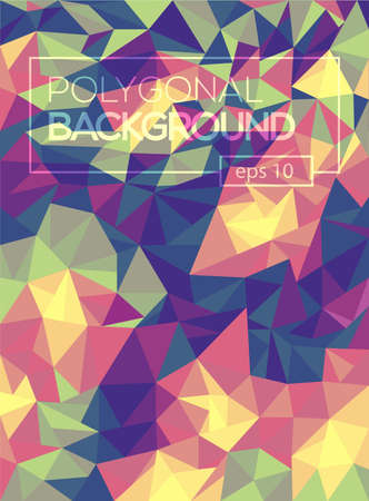 diamond background: Abstract polygonal pattern background with connecting lines. Connection structure. Scince, futuristic, HUD background. Illustration