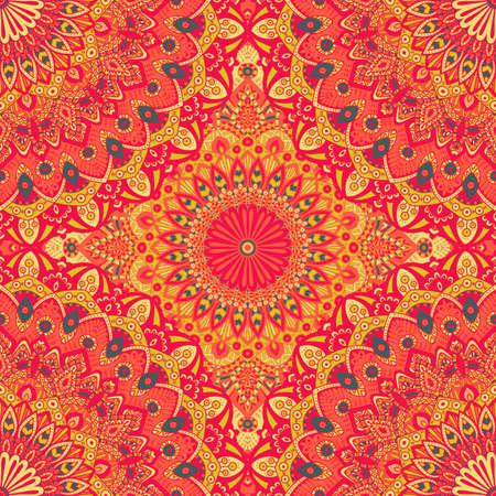 seamless tile: Seamless pattern mandala ornament. Vintage decorative elements. Hand drawn oriental background. Tribal motifs. Illustration