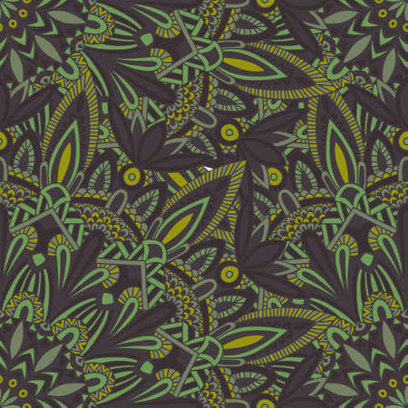 ottoman fabric: Tribal mandala pattern for printing on fabric or paper. Hand drawn background. Seamless Islam, Arabic, Indian, ottoman oriental ornament.