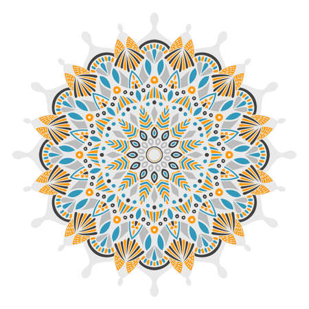 servilleta de papel: Tribal vector mandala. Vintage design for printing. Hand drawn background. Islam, Arabic, Indian, ottoman oriental ornament. Vectores