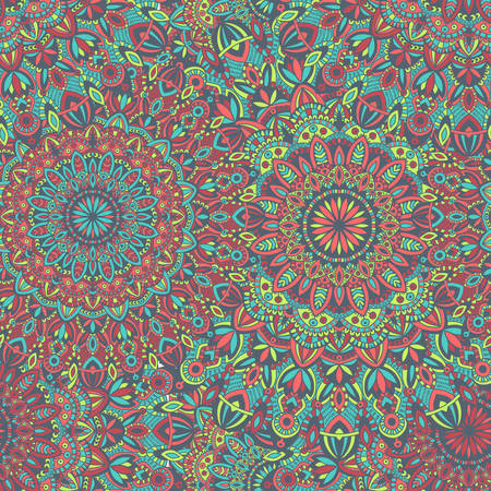 Vektor Stammes-Jahrgang ethnischen nahtlose Muster für den Druck. Mandala Hintergrund. Handgefertigte orientalische Ornament. Standard-Bild - 64745137