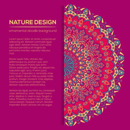 Tribal Mandala Design Set Vintage Decorative Elements Ornamental