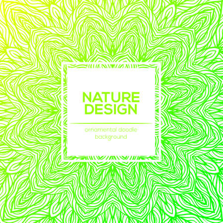 Tribal mandala design set. Vintage decorative elements. Ornamental business cards. Oriental, vector illustration. nature motifs. Doodle ornaments.