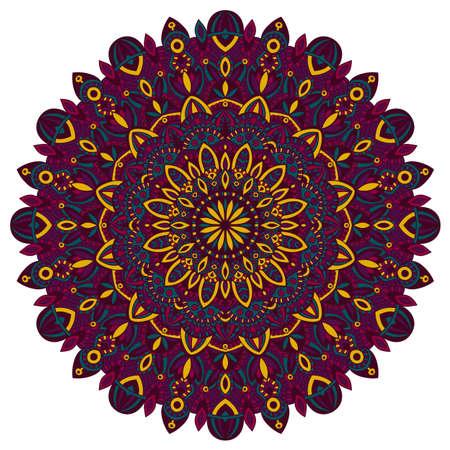 Vector tribal vintage ethnic element for print. Mandala background. Handmade oriental ornament. Illustration